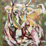 Dreaming Doro, Acryl auf Leinwand, 80 x 80 cm, 2019
