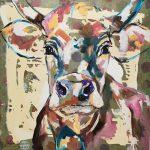 Joyful Judi, Acryl auf Leinwand, 80 x 80 cm, 2019