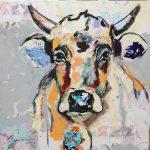 Roayal Rosalie, Acryl auf Leinwand, 80 x 80 cm, 2019