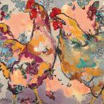 Blumenschwestern, Acryl auf Leinwand, 50 x 50 cm, 2019