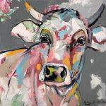 Bright Berta, Acryl auf Leinwand, 50 x 50 cm, 2019