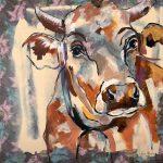 Chocolate Cow, Acryl auf Leinwand, 100 x 100 cm, 2019