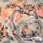 Flower Dreams, Acryl auf Leinwand, 60 x 60 cm, 2019