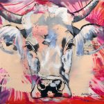 Meditation Bull, Acryl auf Leinwand, 60 x 60 cm, 2019