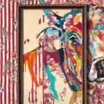 Out Of Frame - Alles im Blick, Acryl auf Leinwand, 100 x 80 cm, 2019