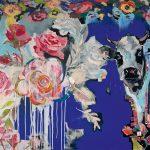 Rose Sky, Acryl auf Leinwand, 100 x 120 cm, 2019