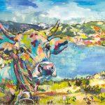 Tegernsee Beauty, Acryl auf Leinwand, 120 x 160 cm, 2019