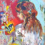 Chica, Acryl auf Leinwand, 80 x 100, 2021