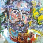El Gallo, Acryl auf Leinwand, 80 x 100, 2021