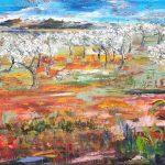 Flor del Almendro, Acryl auf Leinwand, 100 x 120, 2021