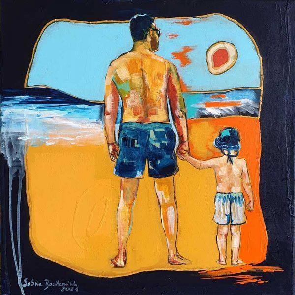 Der kleine Mann und das Meer - Auktion